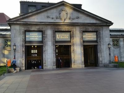 Entrance to Wittenbergplatz station in Berlin